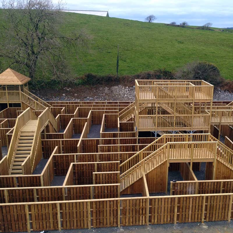Top view at the Timber Maze at Smugglers Cove, Rosscarbery, Co. Cork