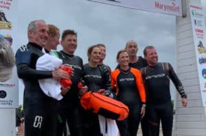 Participants at the Galley Head swim 2019