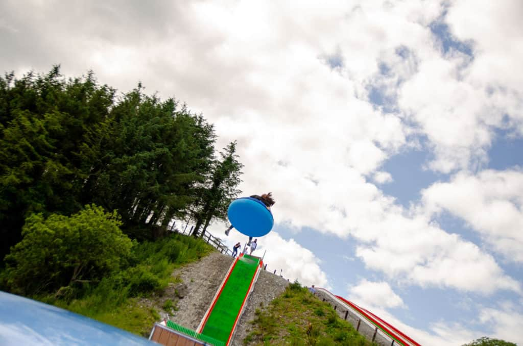 Getting ready to land at Smugglers Cove Tubing Park, Cork