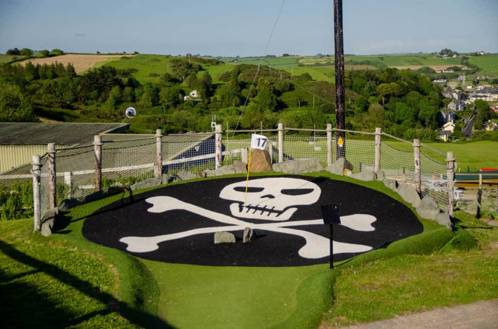 The Jolly Rodger Hole 17 at Smugglers Cove Crazy Golf
