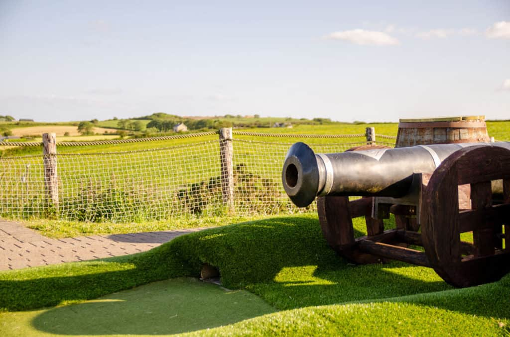The cannon shot at Smugglers Cove Crazy Golf